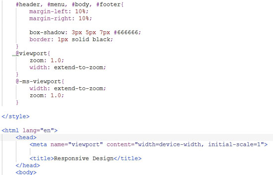 Picture of Viewport Meta Tag