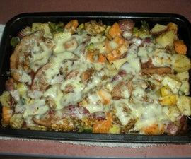 Chicken Veggie Casserole with BACON