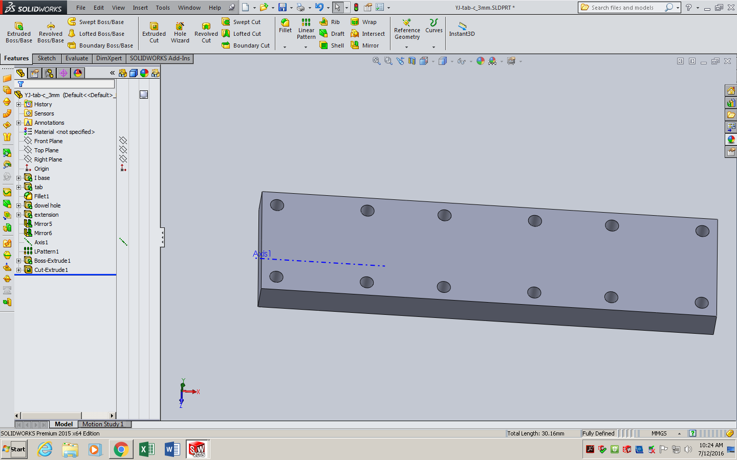 Picture of Making a Guide for Dowel Holes