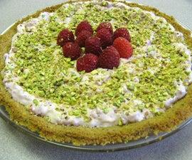 (Pi)r^2 = (Pi)stachio-crusted Raspbe(rr)y Cream Pie