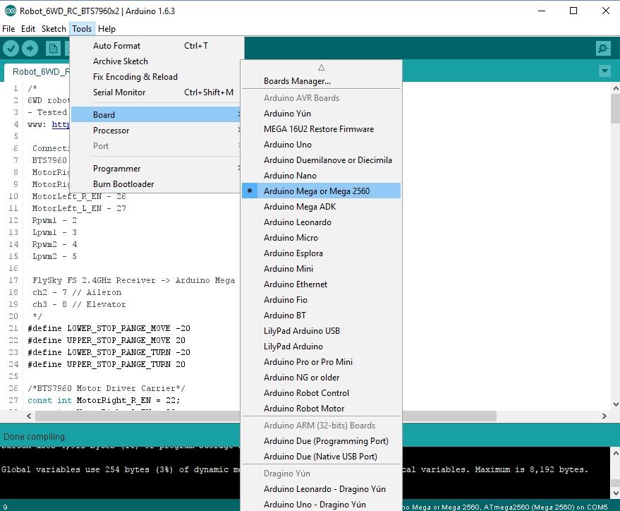 Picture of Arduino Mega Code