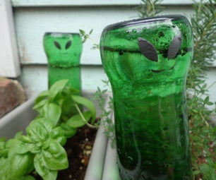 Upcycled Auto-Watering Garden Aliens