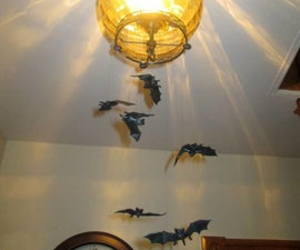 Halloween Magnet Flying Chandelier Bats