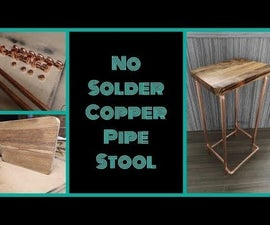 No Solder Copper Pipe Stool
