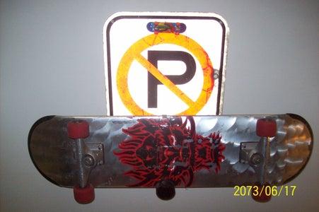 No Parking Skateboard Rack