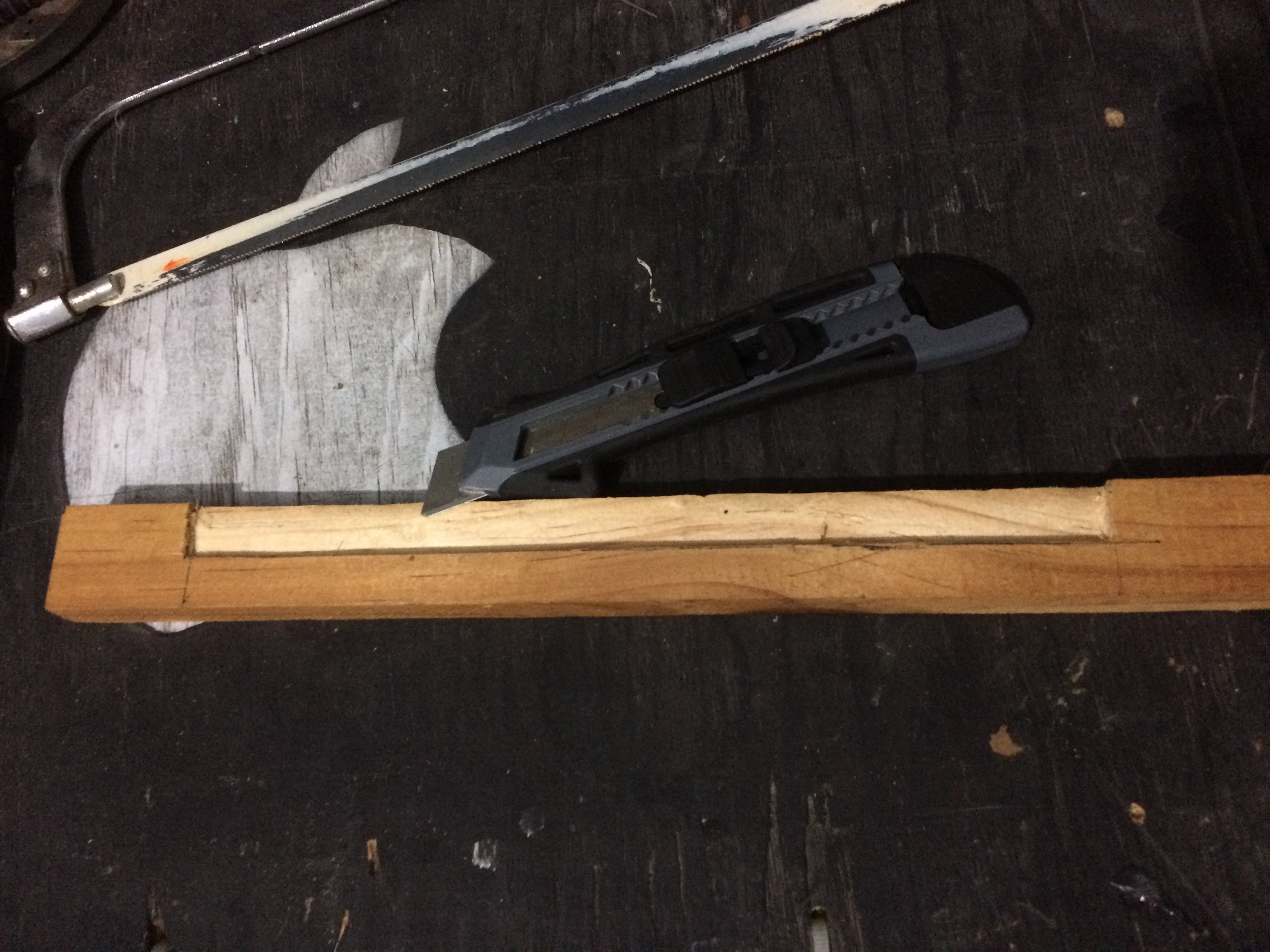 Picture of Making the Notch and Adding the Brackets