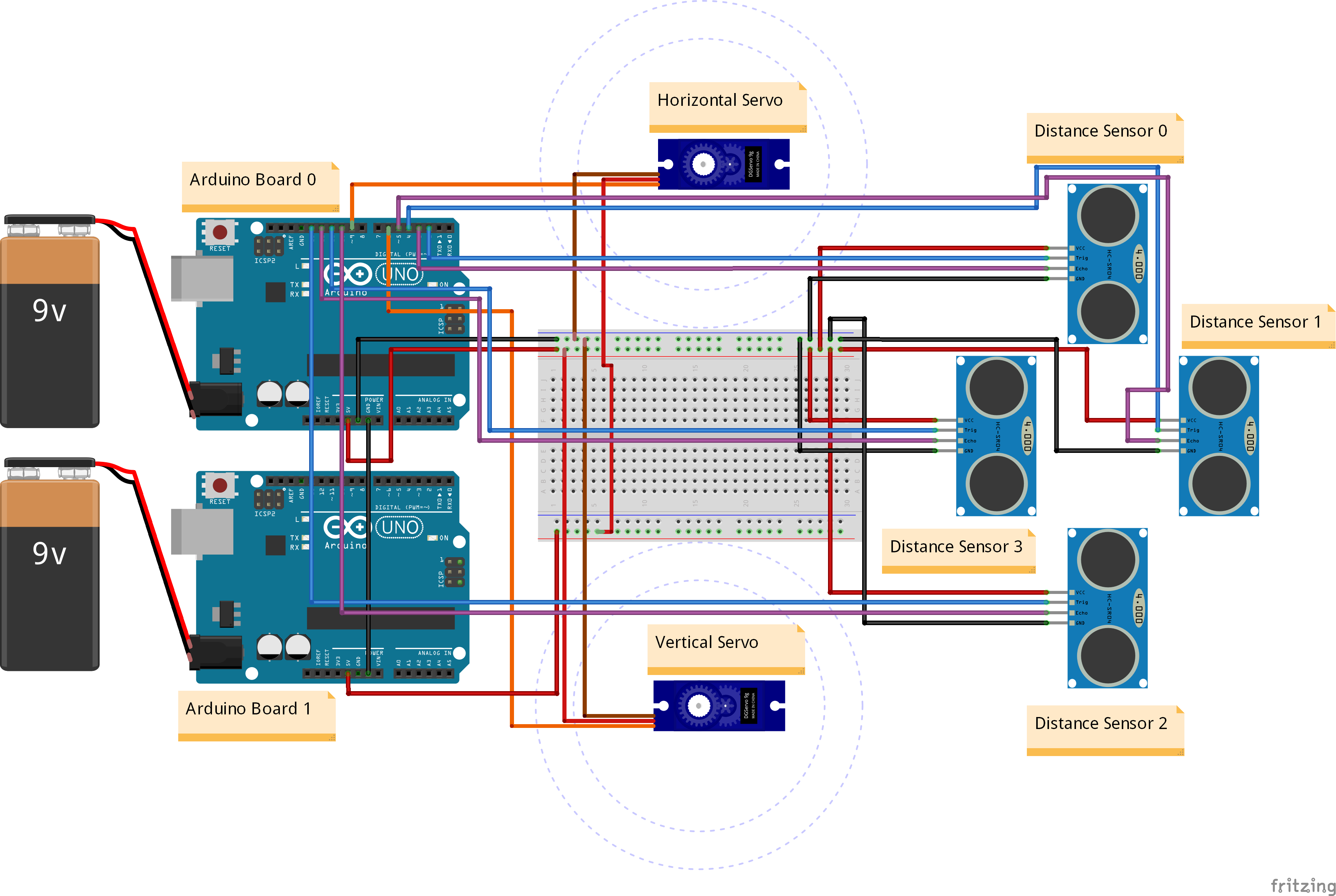 Picture of Circuit Diagram of the Tower