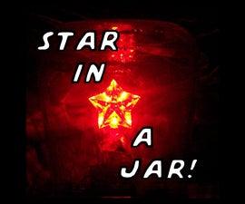 Solar Powered LED Twinkling Star In A Jar
