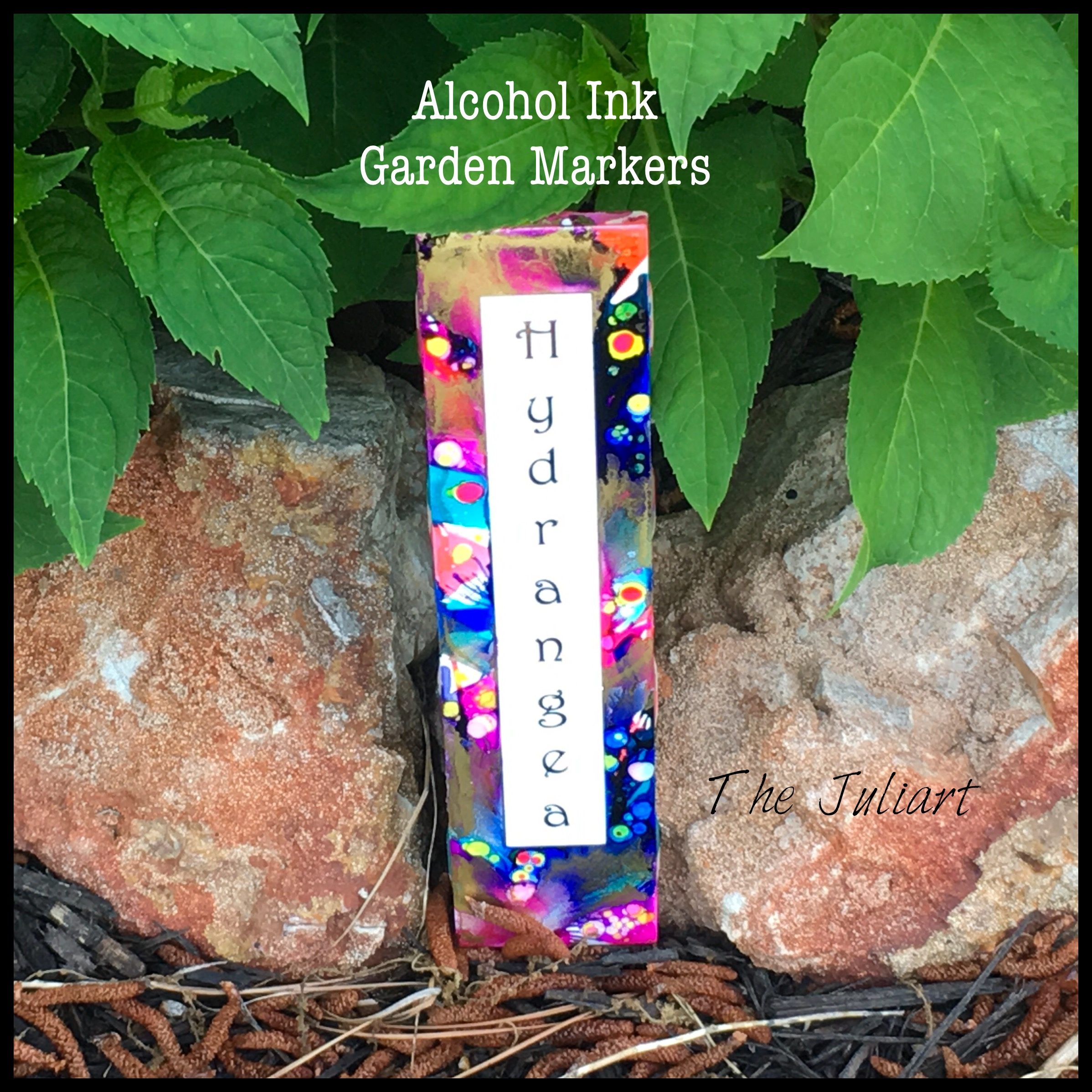 Picture of Alcohol Ink Garden Markers