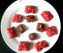 Choclate Coconut Fudge and Beetroot Coconut Fudge