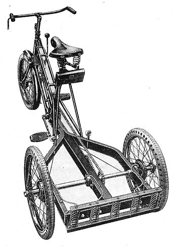 Picture of bikeframe to trikeframe