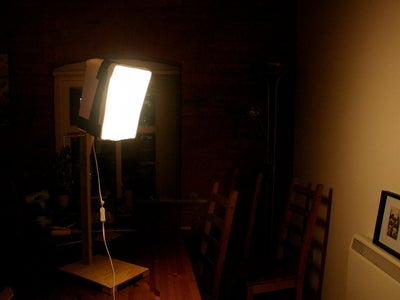 Photography Soft Box Lamp Made From Reclaimed Objects