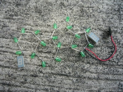 LED Chemical Structure Sculpture