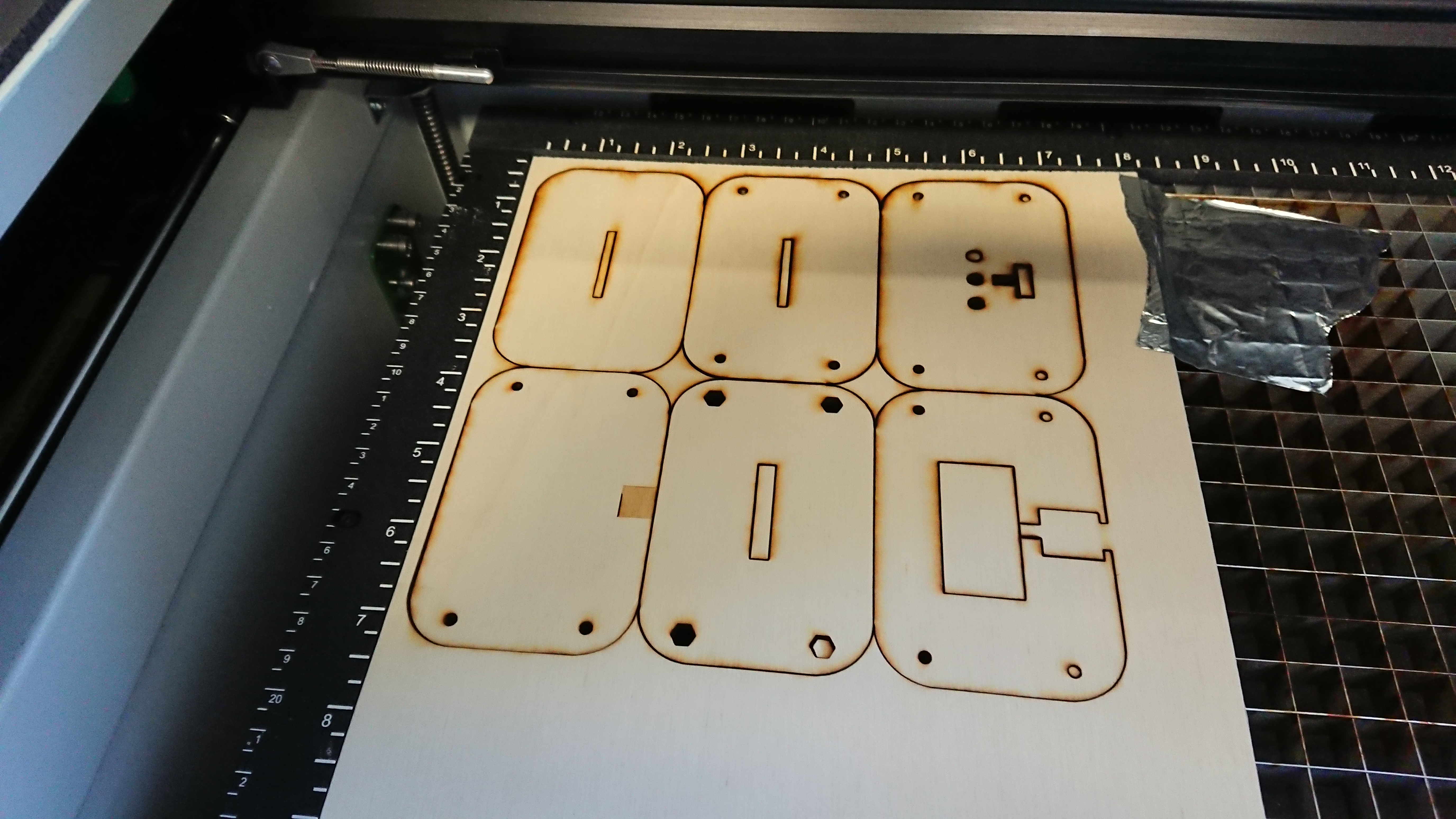 Picture of Laser Cutting and Engraving the Parts