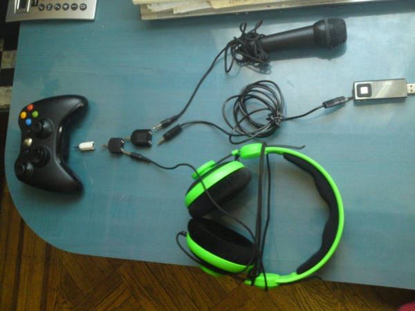 Xbox 360 Music/headphone/mic Rig
