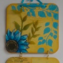 Wall hanging from coasters