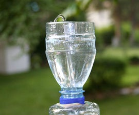 Re-create Heron's fountain from water bottles