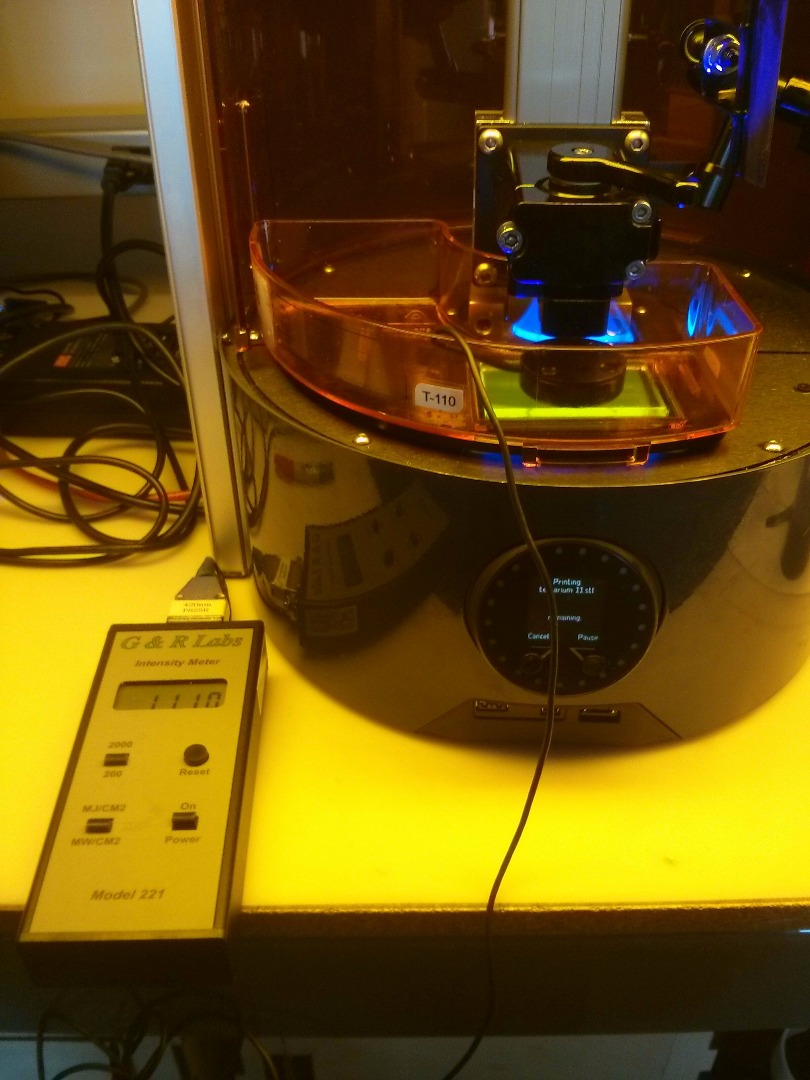 Picture of Adjusting for Changes in Light Intensity With the Ember Printer
