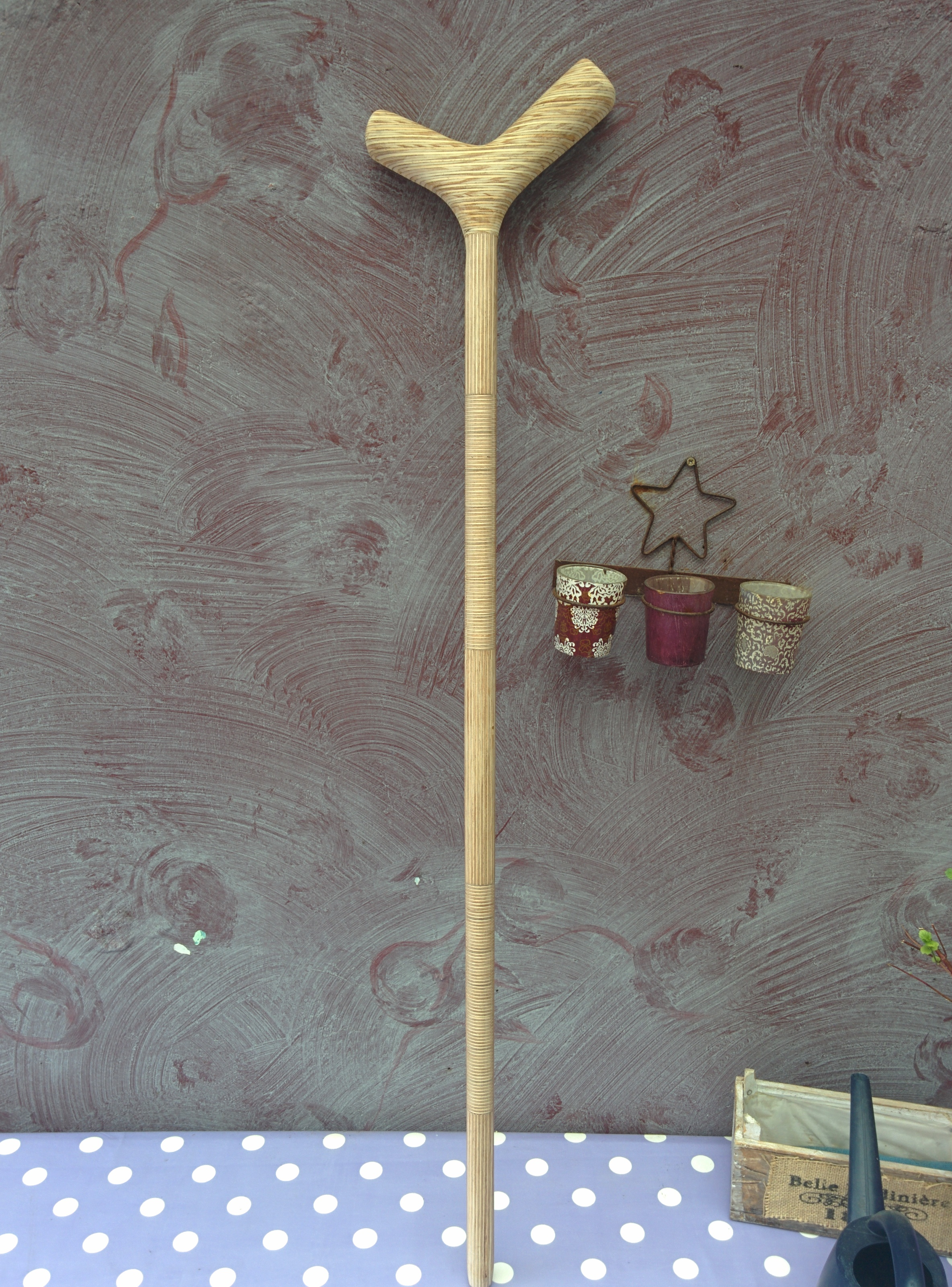 Picture of Old Plywood Walking Cane