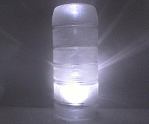 Recycle Reminder Lamp From Upcycled Water Bottle
