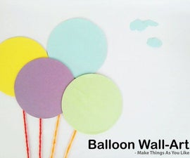 Balloon Wall Art - Recycle Plastic CD's