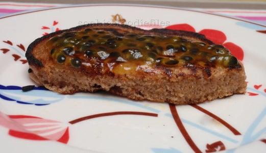 Vegan Spelt Pancakes With Passionfruit Glaze