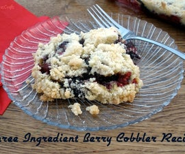 Easy Three Ingredient Berry Cobbler