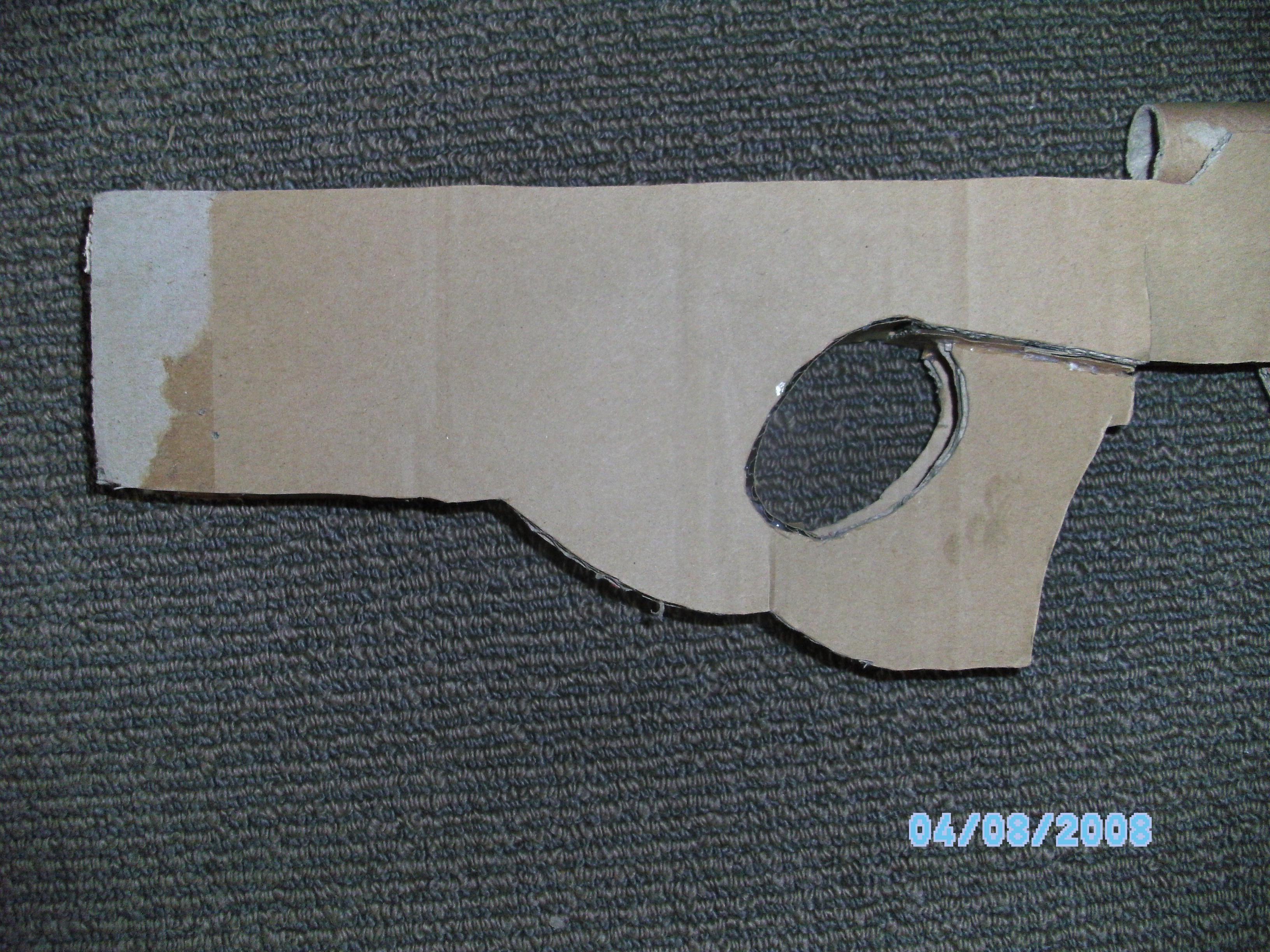 Picture of L96A1 Sniper Rifle Tutorial (Cardboard)
