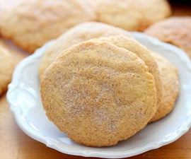 Cinnamon Crusted Sugar Cookies