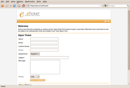 Helpdesk Ticket Submission.