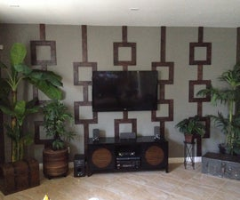 Custom Wood Wall Design