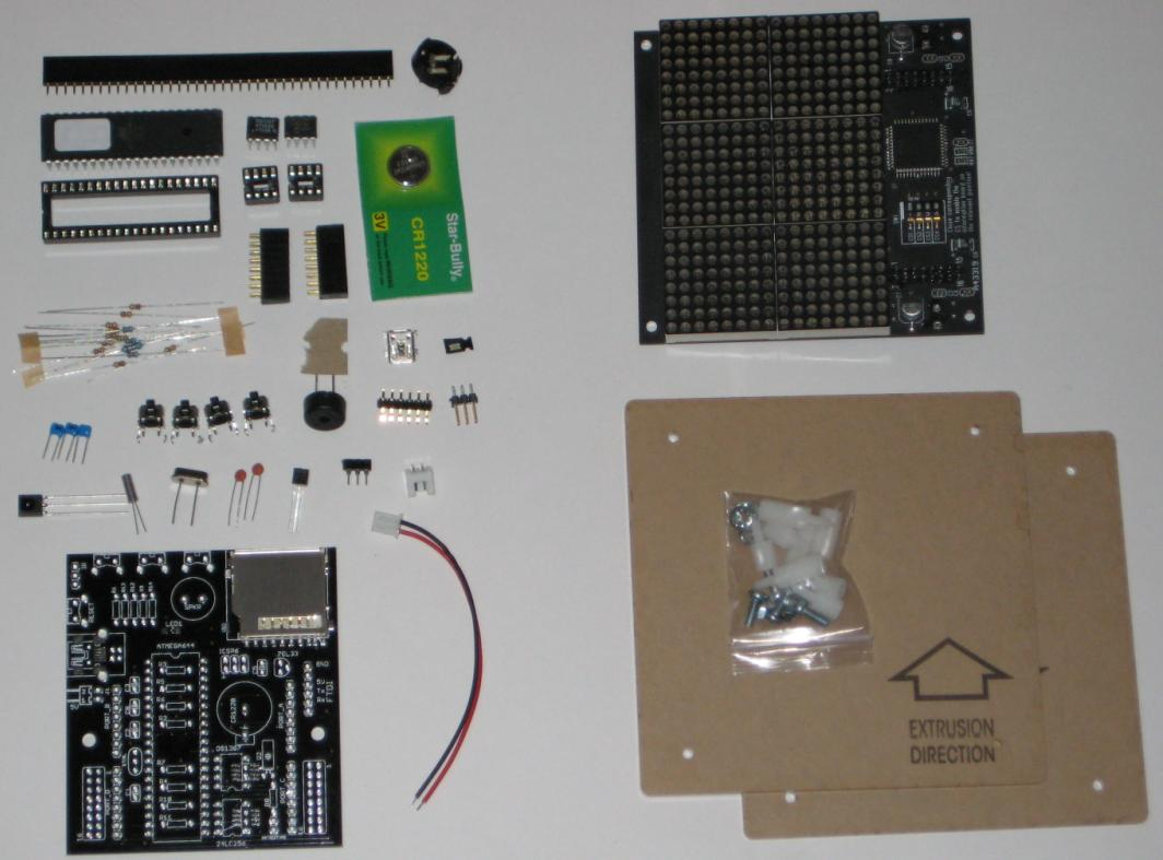 Picture of Content of Duino644 Kit