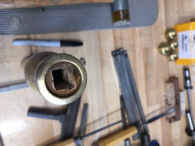 Using a 3/8 Chisel to Square the 3/8 Drilled Hole