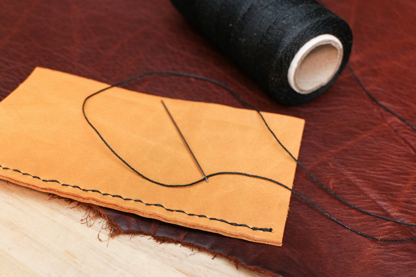 Saddle Stitching With One Needle
