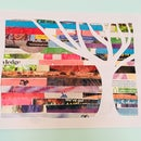 Upcycled Magazine Wall Art | Tree Silhouette Art