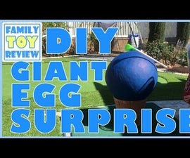 How to Make Giant Surprise Eggs With Surprise Toys Inside DIY Homemade Easter Egg Pinata Craft