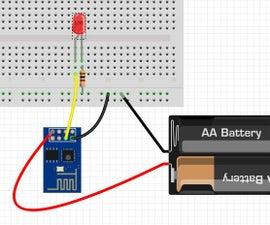 Blink for ESP8266 native, like arduino using Windows