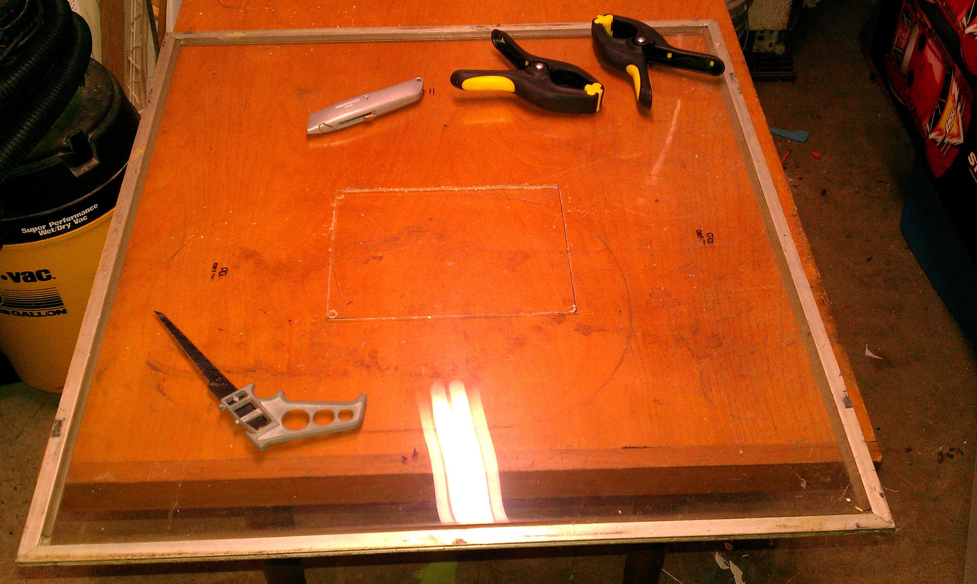 Picture of Cut the Plexiglass