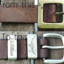 How to refurbish old leather belts or make one from scratch