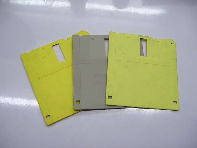 Picture of Take Off the Front-part of the Diskettes