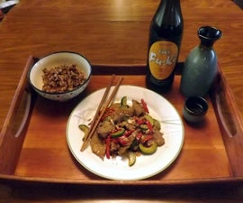 STIR-FRY BEEF WITH CUCUMBER, GREEN ONIONS, & RED CHILI PEPPERS