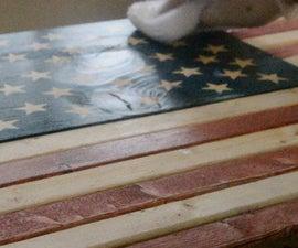 Rustic Wooden American Flag Build