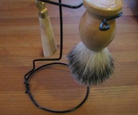 Make Your Own Razor and Shaving Brush Stand