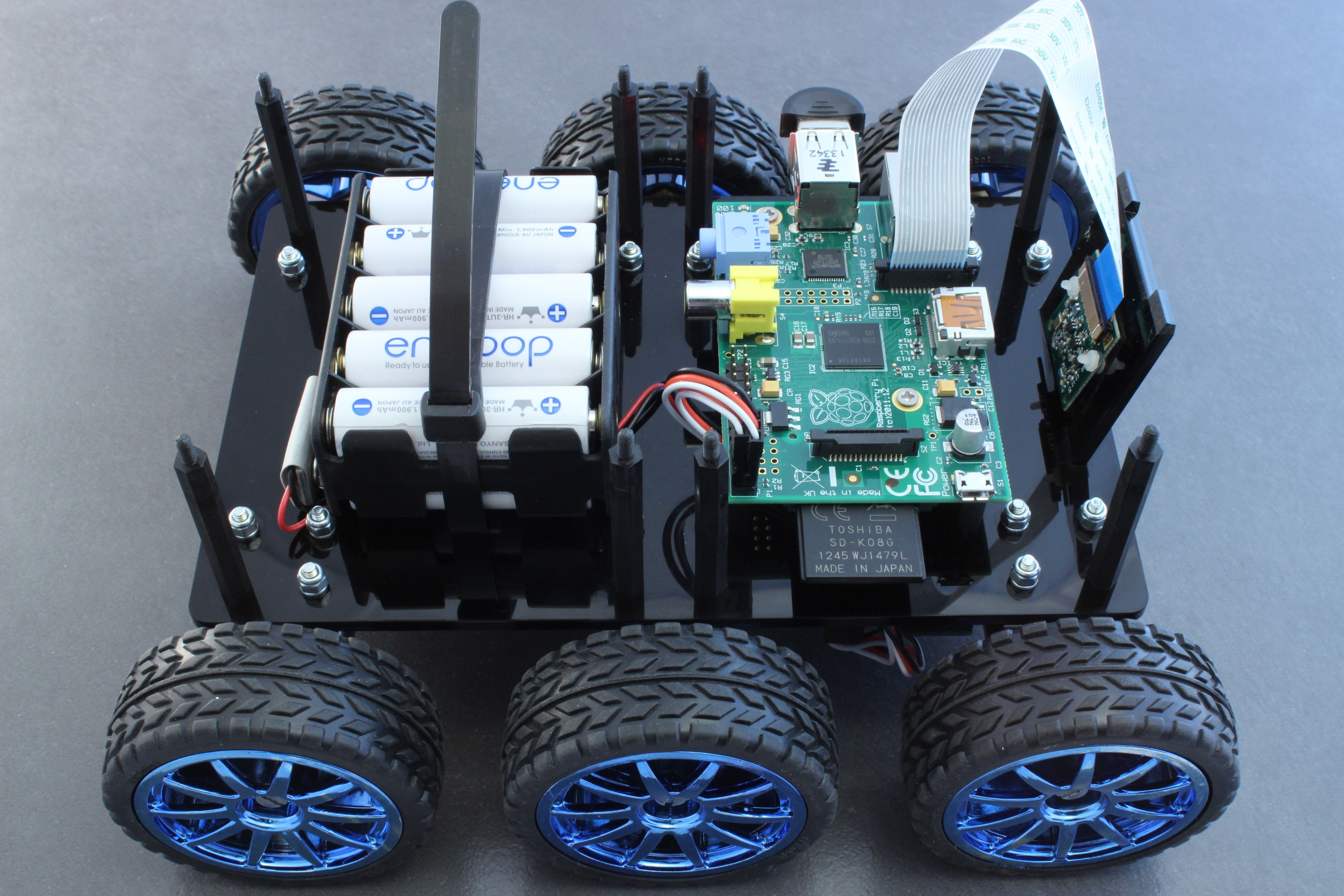 Picture of DiddyBorg: the Mini 6 Wheeled Raspberry Pi Robot!