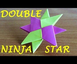 How to Make a Double Ninja Star Shuriken Origami