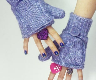 How to Make Glittens (fingerless Glove-mittens)