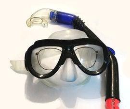 DIY Prescription Snorkel Mask