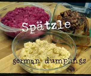 Spätzle, German Dumplings