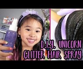 DIY Unicorn Glitter Hair Spray | Easy Hair Glitter Tutorial