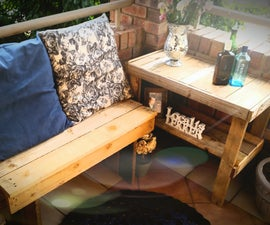 One Hour Pallet Wood Bench